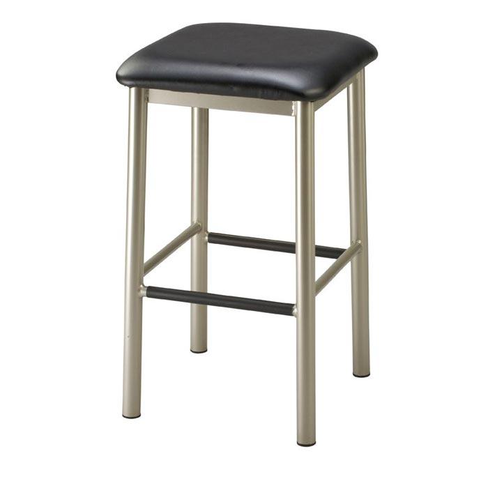 square backless metal bar stools