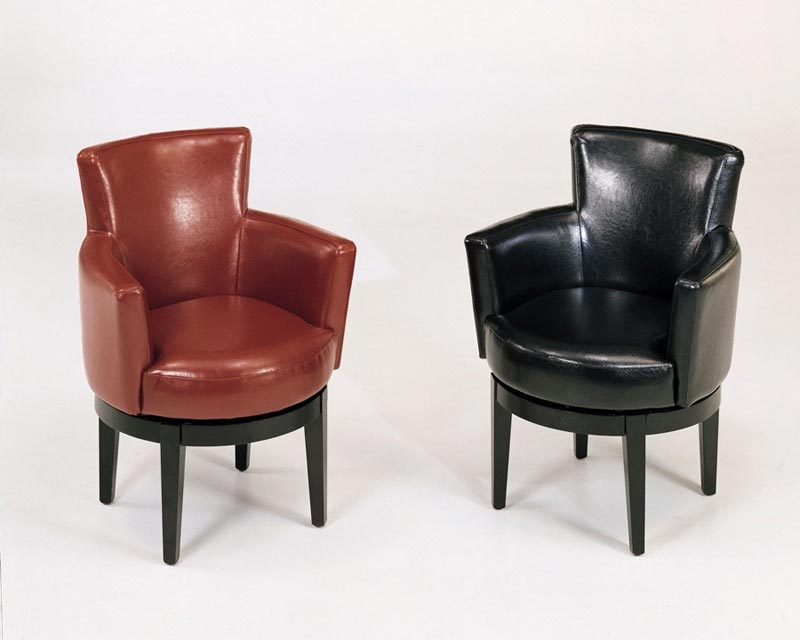 armen living leather swivel club chair
