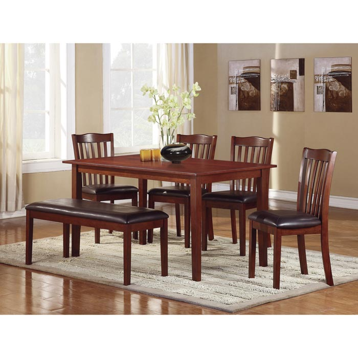 beech dining room table and 6 chairs