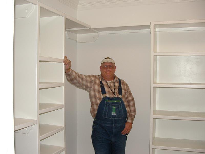 build closet rod and shelf