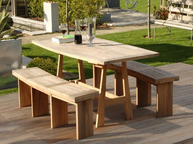 cheap chunky wooden garden furniture