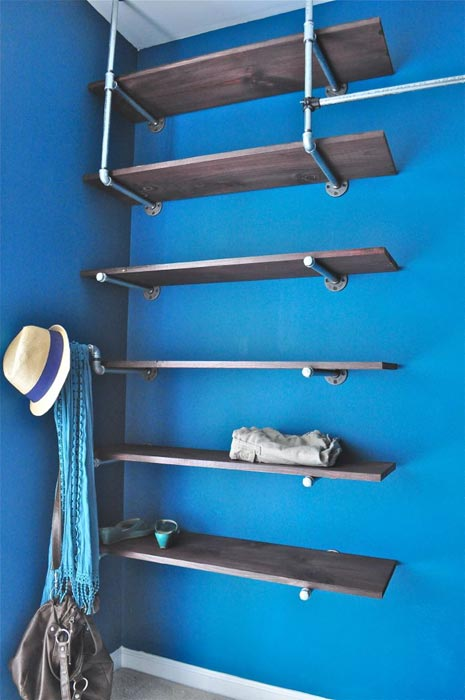 closet rod and shelf bracket