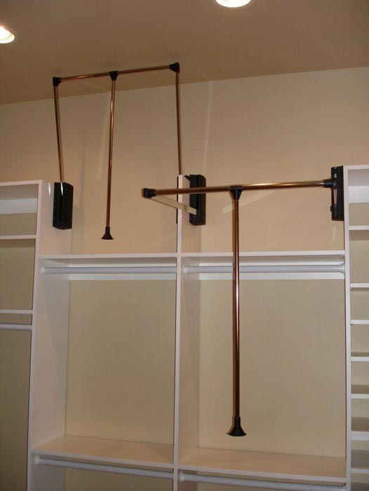 closet rods and hangers