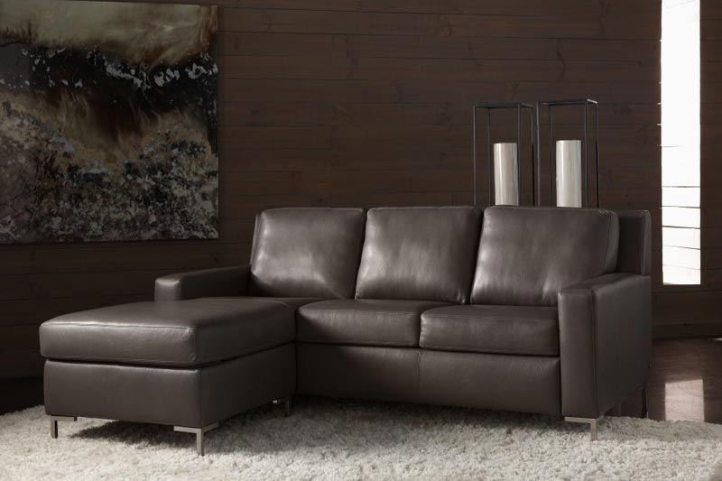 contemporary black leather sofa bed