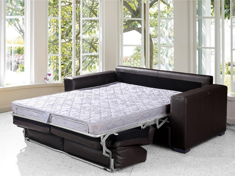 dual modern chocolate brown leather sofa bed