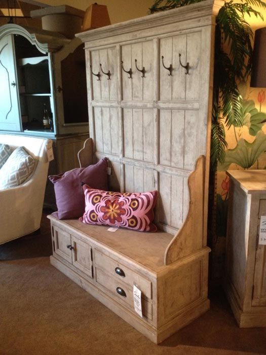entryway storage bench with coat rack plans