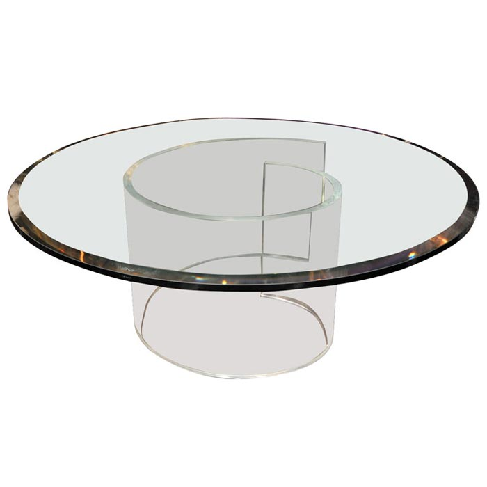 lucite coffee table base