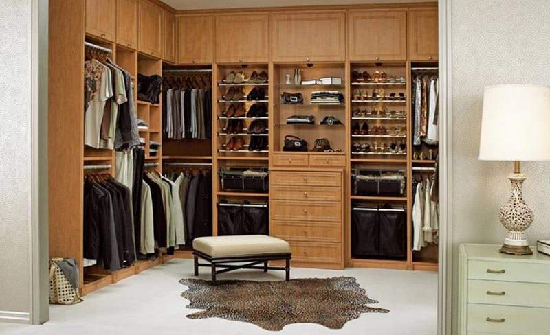walk in closet design on a budget