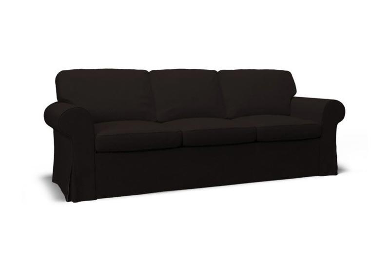 3 seater sofa cover black