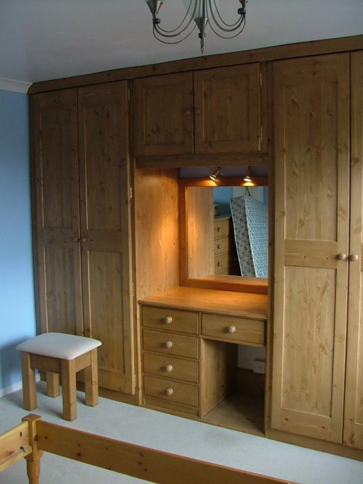 bedroom wardrobes with dressing table
