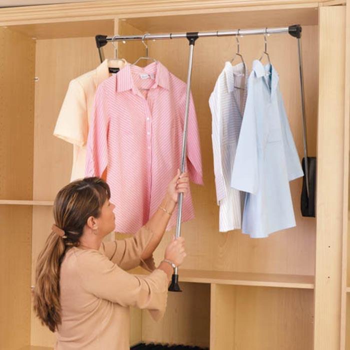 closet organizers rods