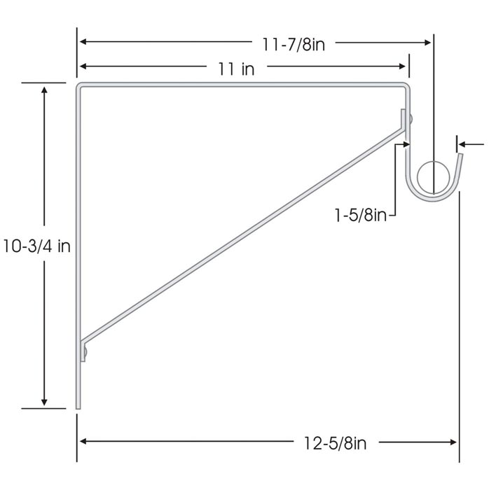 closet shelf and rod dimensions