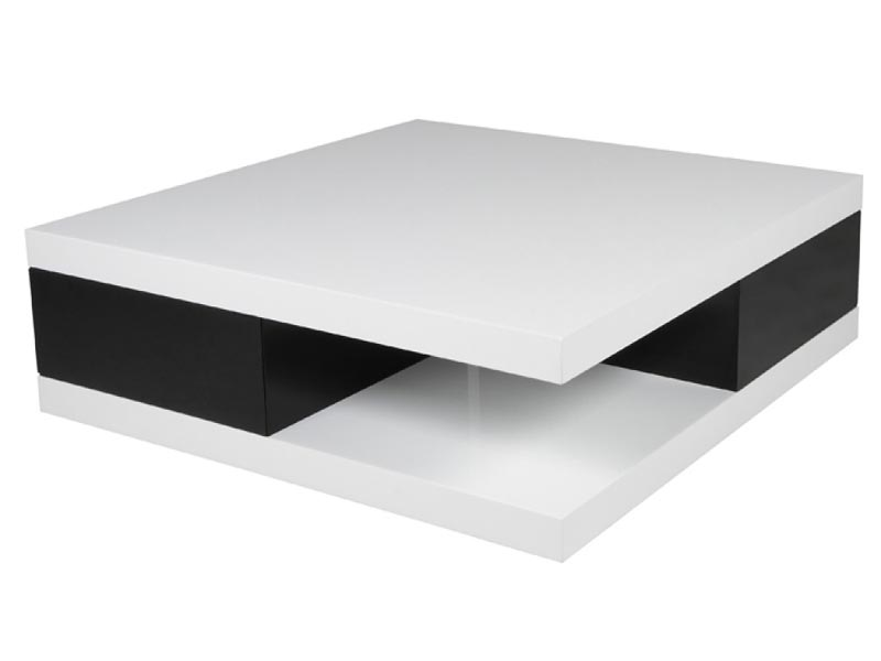 coffee table black and white