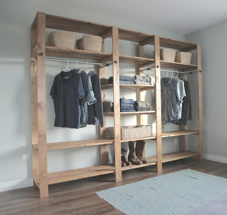 do it yourself walk in closet systems