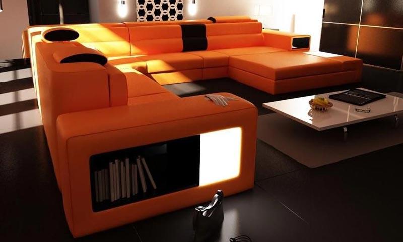 malaga modern italian designer leather sectional sofa by polaris