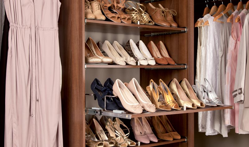 shoe racks for fitted wardrobes
