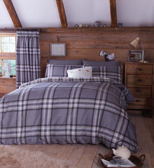 tartan curtains and bedding