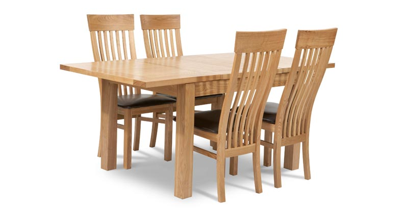 ash extending dining table and chairs