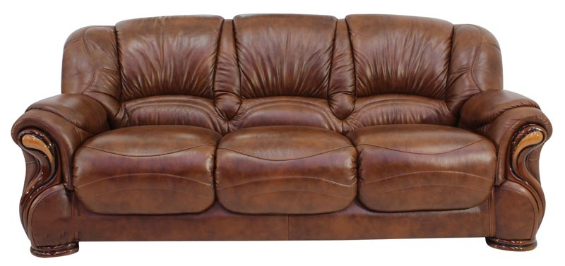 brown leather 3 seater sofa prices