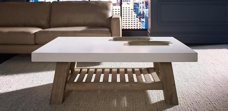 ebay white wood coffee table