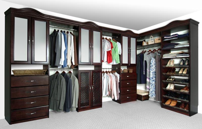 solid wood closet organizer systems