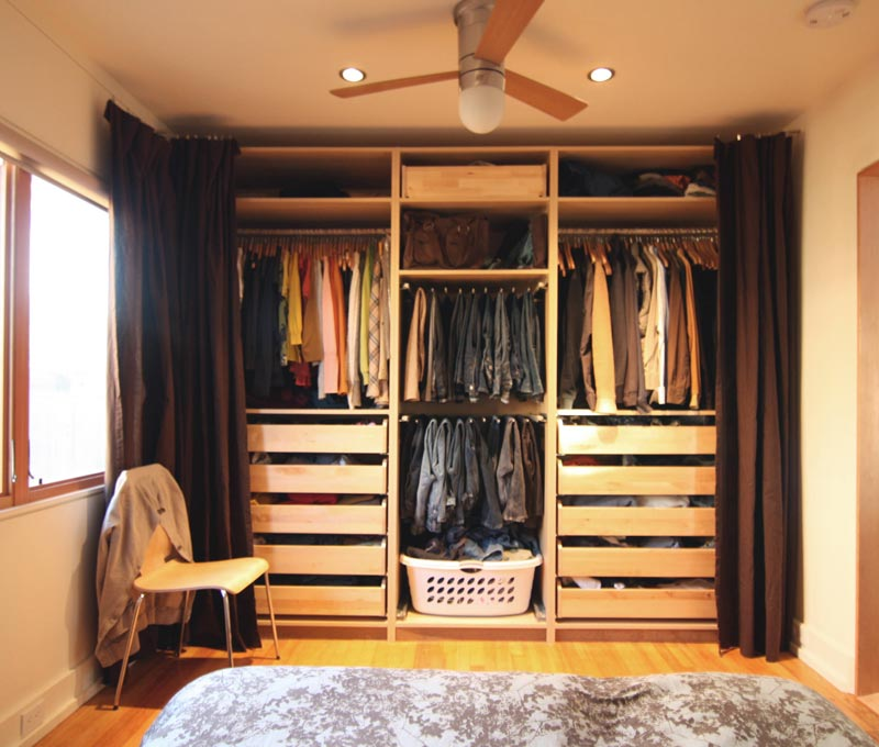 solid wood closet storage systems