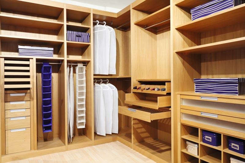 wood closet storage systems