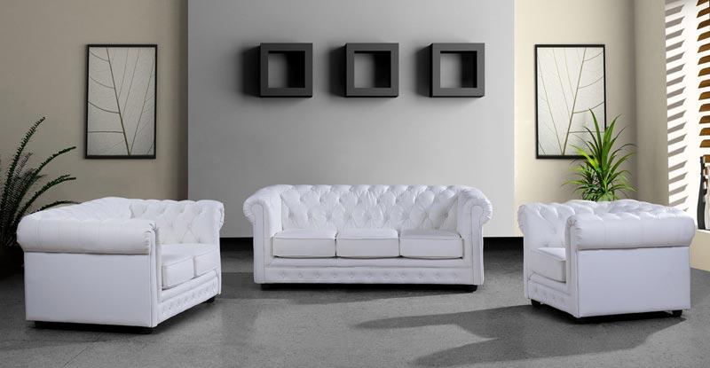 cheap white leather sofa set