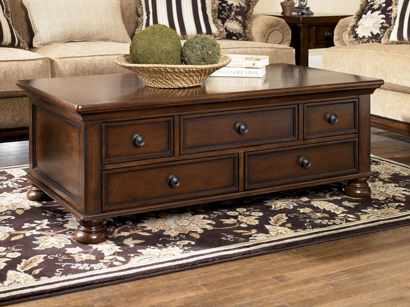4mahogany coffee table with drawers