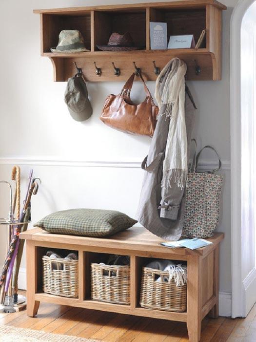 montague oak storage shoe bench and coat rack storage set