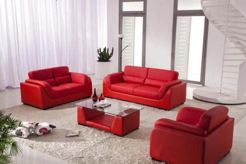 red leather sofa living room ideas