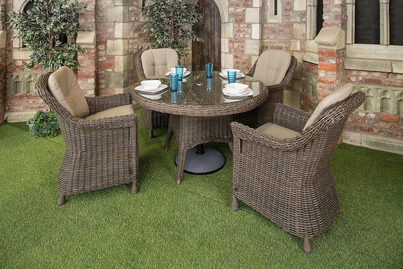 resin weave dining garden furniture