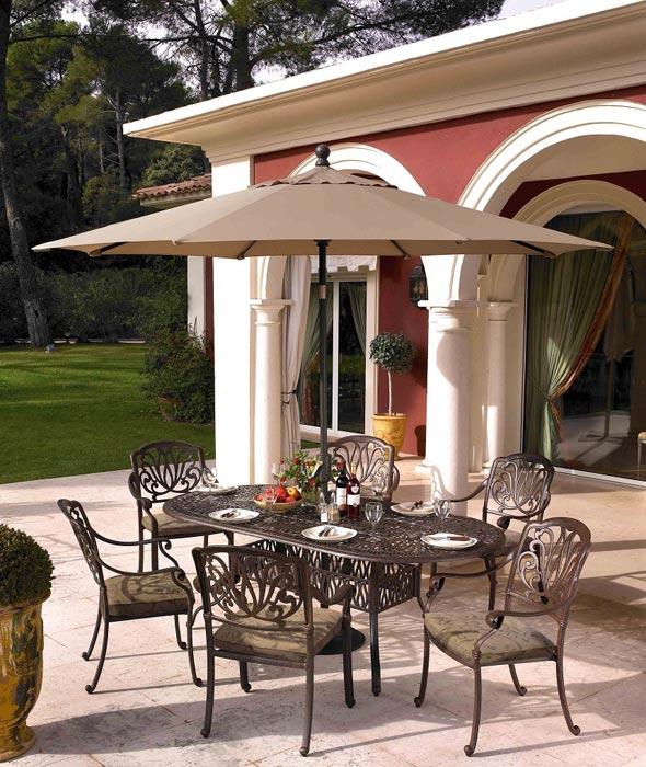 6 seater textilene garden furniture