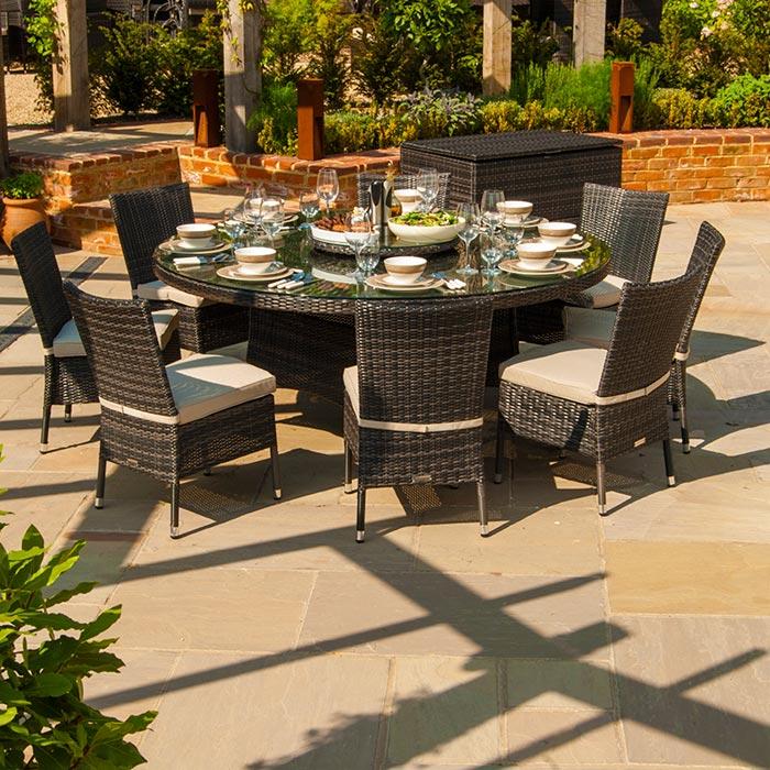 8 seater textilene garden furniture
