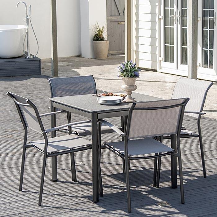 aluminium textilene garden furniture
