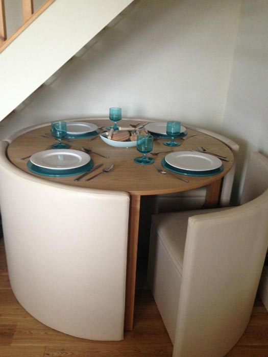 hideaway dining room table and chairs