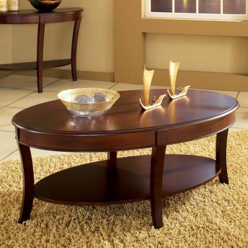 oval coffee table wood uk