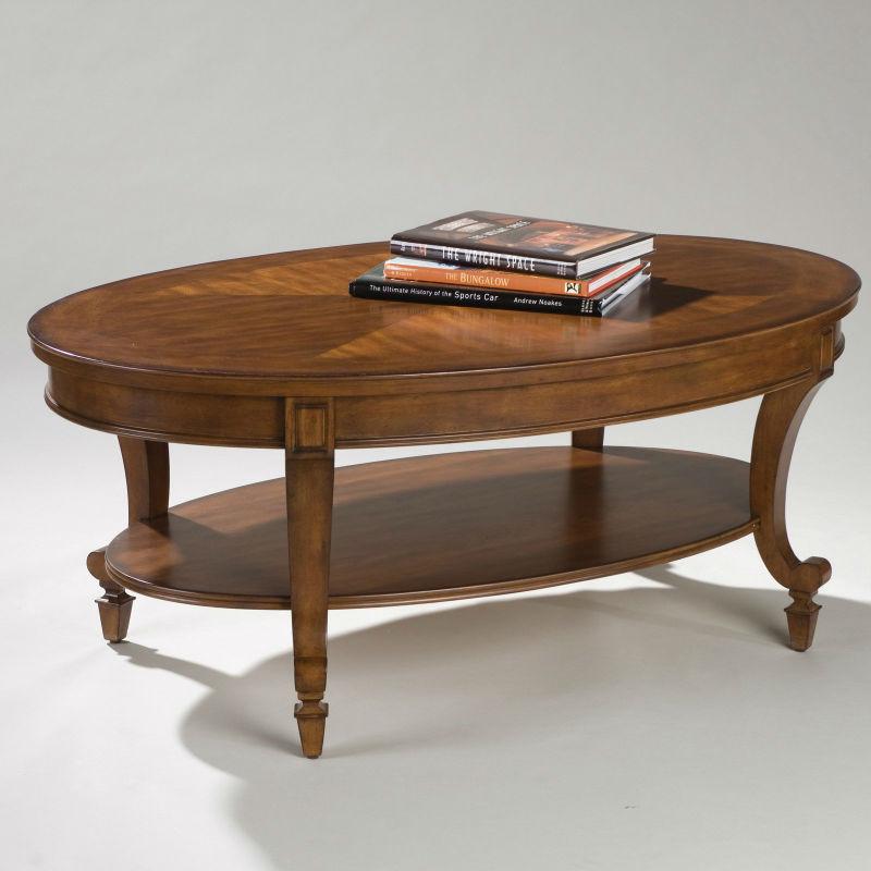 oval coffee table wood