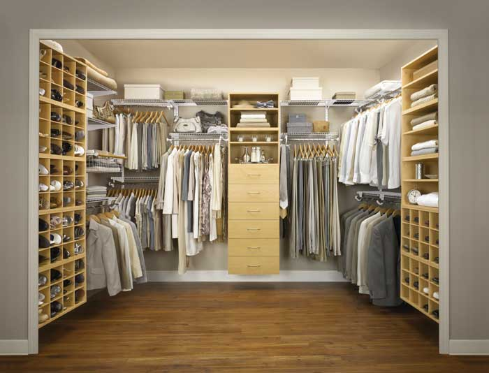 best wood for walk in closet