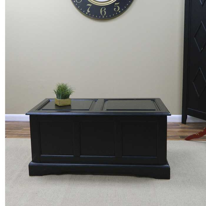 black storage chest coffee table