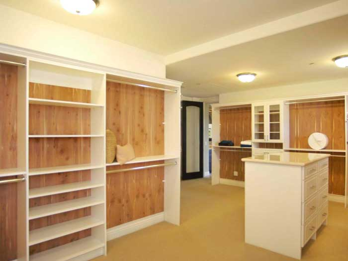cedar wood walk in closet
