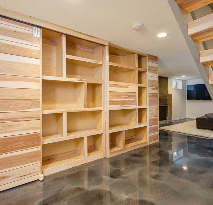custom build closet shelves