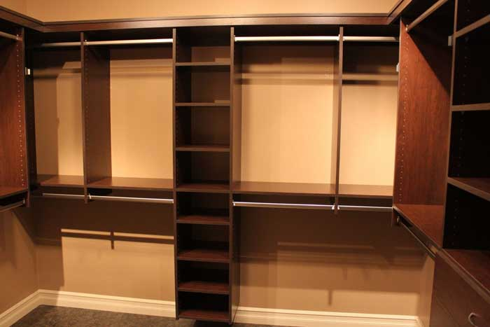 custom wood walk in closets