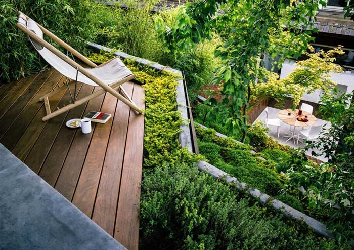 patio designs for sloping gardens