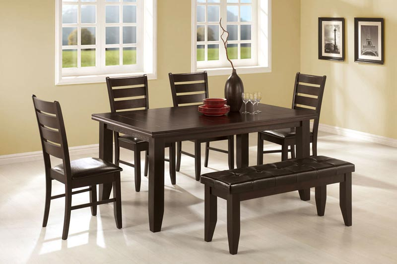 Dining Room Table And Chairs With A Bench
