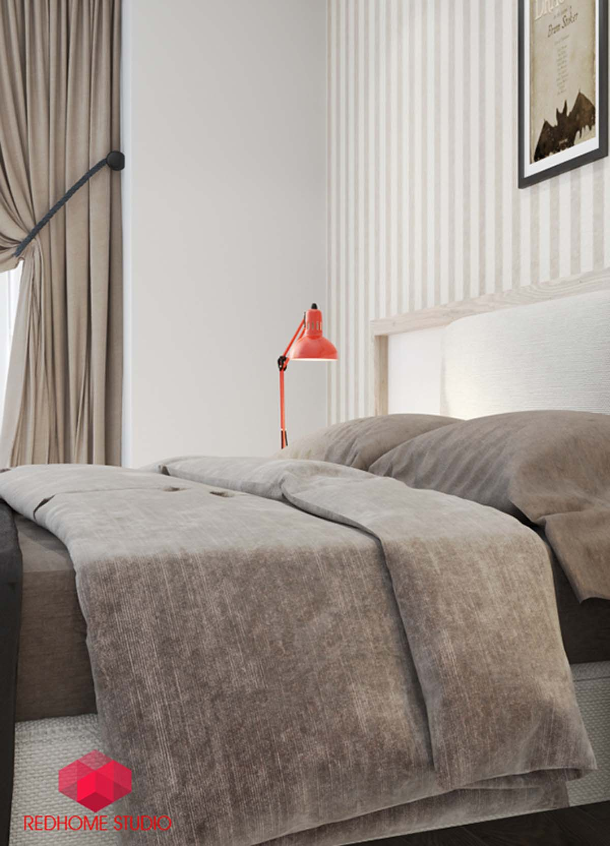 3. The neutral yet charismatic color shade of this bedroom by RedHome Studio