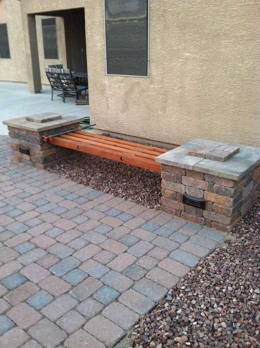 brick bench ideas