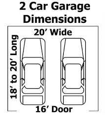 2 car garage minimum size